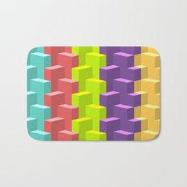 Colored Cubes in 3d Bath Mat