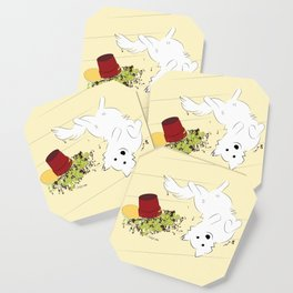 Great Pyrenees Goes Spread Eagle Coaster