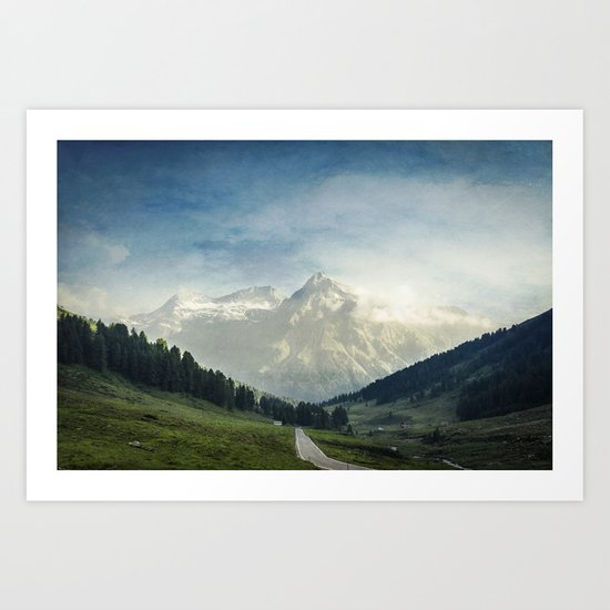 the Alps - Sunlit Suretta Massif Art Print