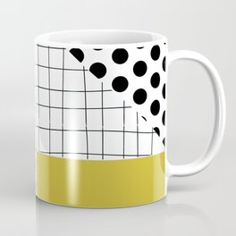 minimal abstract yellow Coffee Mug