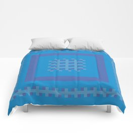 Blue and Purple Boxes Comforters