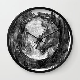 the earth is round Wall Clock