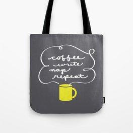Coffee, Write, Nap, Repeat Tote Bag