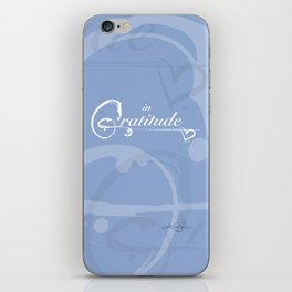 In Gratitude, Serenity by Kathy Morton Stanion iPhone Skin