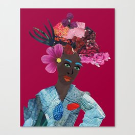 Antonia red Canvas Print