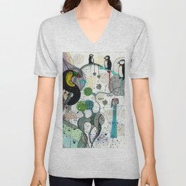 """Toucan and penguins"" Unisex V-Neck"