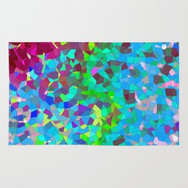 colourful abstract. Rug