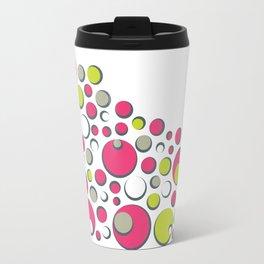 Bubble Dot Polka Gum Travel Mug