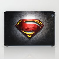 man of steel iPad Cases featuring Man of Steel by bimorecreative