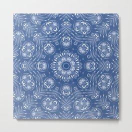 Light blue ornament . Metal Print