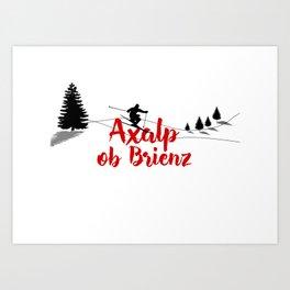 Ski at Axalp ob Brienz Art Print