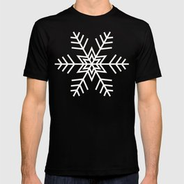 Snowflake   Black and White T-shirt