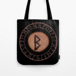 Berkano Elder Futhark Rune secrecy, silence, safety, mature wisdom, dependence, female fertility Tote Bag