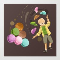 macarons Canvas Prints featuring Macarons by Lilian Darmono