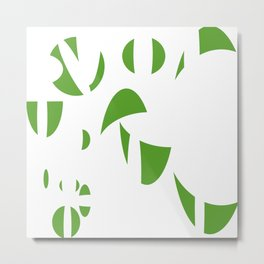 Abstract the Green Metal Print
