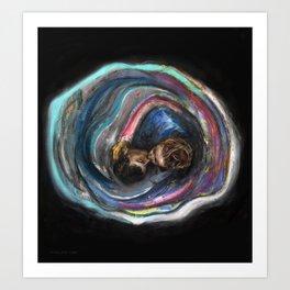 Le Baiser (oil on canvas) Art Print