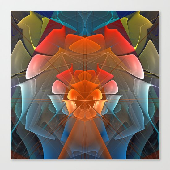 Colourful unfolding fantasy abstract Canvas Print