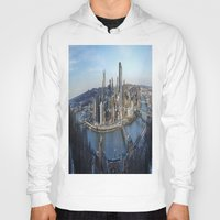 pittsburgh Hoodies featuring PITTSBURGH CITY by Stephanie Bosworth