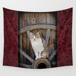 Rustic Ruby Wall Tapestry