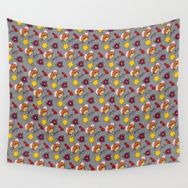Hammy Pattern in Light Grey Wall Tapestry