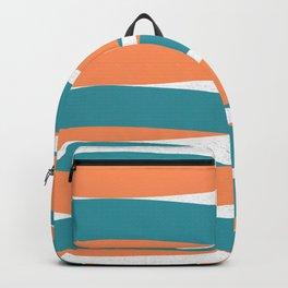 Blue Orange White Curves Backpack