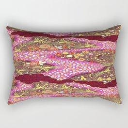 Intricate Yuzen Pattern Rectangular Pillow