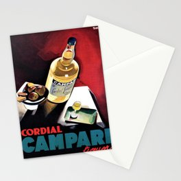 Vintage Campari Italian Cordial Advertisement Wall Art Stationery Cards