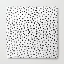 Modern Polka Dot Hand Painted Pattern Metal Print