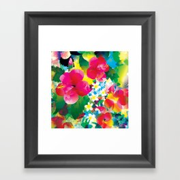 Hawaiian jungle Framed Art Print