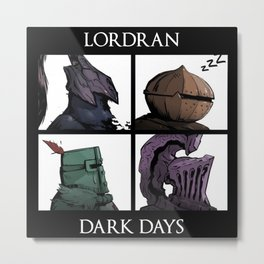 Lordran Dark Days Metal Print