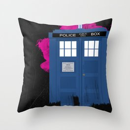 Time and Relative Dimension in Space Throw Pillow