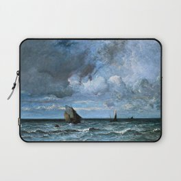 12,000pixel-500dpi - Jules Louis Dupre - Barks Fleeing Before the Storm - Digital Remastered Edition Laptop Sleeve
