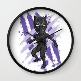 Black Panther (Splatter) Wall Clock