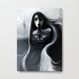 Alone, Full Painting Metal Print