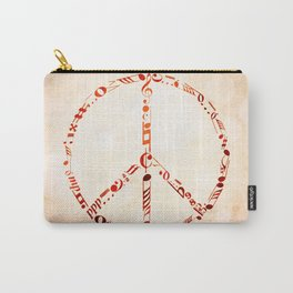 Watercolor music peace Carry-All Pouch