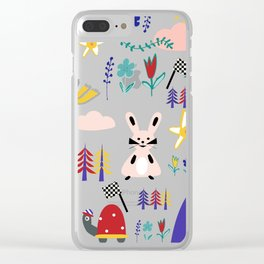 Tortoise and the Hare is one of Aesop Fables blue Clear iPhone Case
