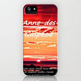 Sainte-Anne-des-Monts Sunrise on the Gulf iPhone Case