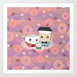 Coffee Peeps Art Print