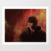 sam smith Art Prints featuring Sam by Amanda Shae