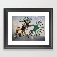 Out of the blue Framed Art Print