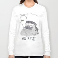 levi Long Sleeve T-shirts featuring Wolf!Eren X Wolf!Levi by Midnight Zoe