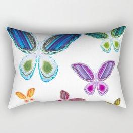 A Rainbow of Agate Butterflies Rectangular Pillow