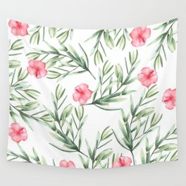 Delicate Hibiscus Wall Tapestry