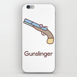 Cute Dungeons and Dragons Gunslinger class iPhone Skin
