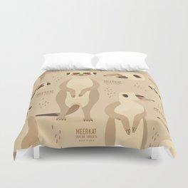 Meerkat, African Wildlife Duvet Cover