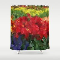 bed Shower Curtains featuring Flower Bed by Paul Kimble