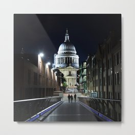 St Paul's Cathedral at night Metal Print