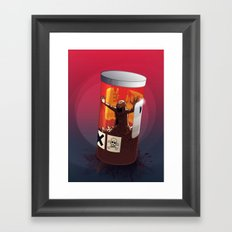 KWeb #2 : Side Effect Framed Art Print