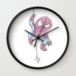 Spider Guy love web Wall Clock