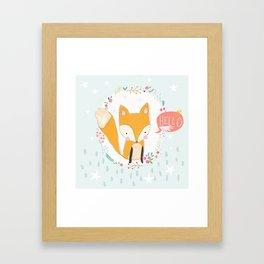 Hello, Fox Framed Art Print